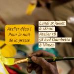 Atelier déco pour la Nuit de la Presse – HELP !