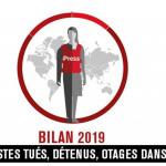 49 tués, 389 détenus et 57 otages journalistes en 2019, selon RSF