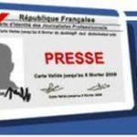 La CCIJP annonce le renouvellement de la carte de presse 2020 pour tous les journalistes