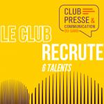 Le Club recrute 6 talents pour réaliser un kit pédagogique
